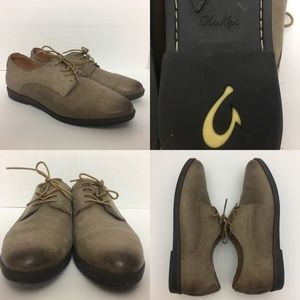 OluKai Keawe Distressed Oxfords Lace Up Shoes 9
